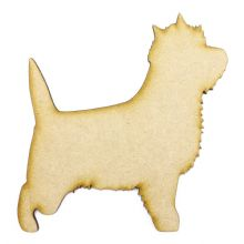 Cairn Terrier Craft Blank, Dog Shape Laser Cut from 3mm MDF, Card Topper